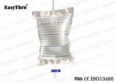 Disposable 2000ml Urine Drainage Bags Cross Value Anti- Reflux