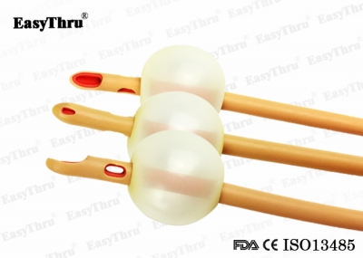 Couvelaire Tip reinforced 3 way Latex Foley Catheter with Big Balloon 30ml - 80ml